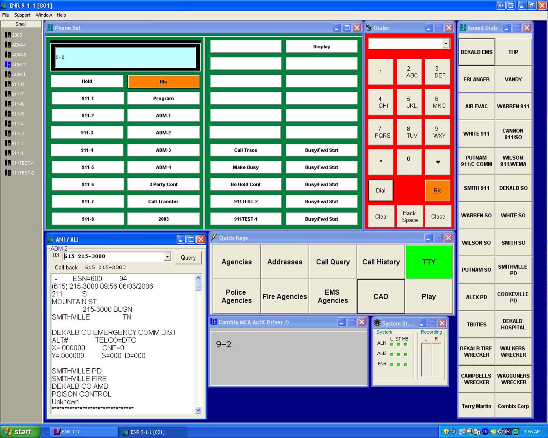 Dekalb e 911 cad Cad system